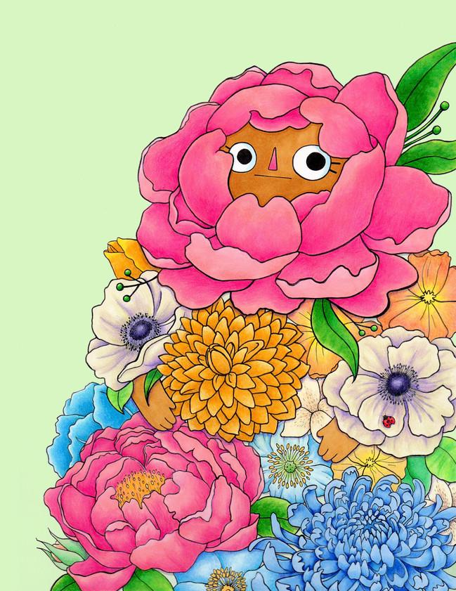 Flower Folk: Peony