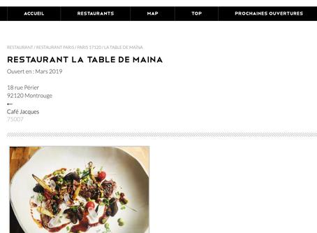 Newtable: Présentation de La Table de Maïna