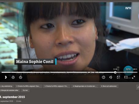Interview chez NRK TV en Norvège