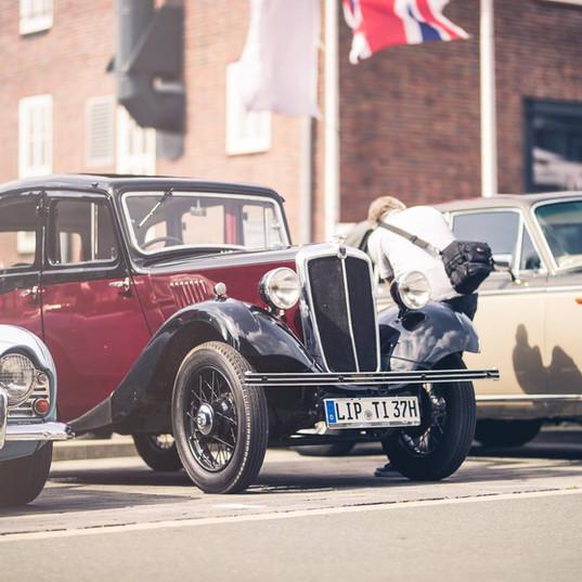 Der top Klassiker MINI wird am British Day vom Autohaus Becker-Tiemann präsentiert