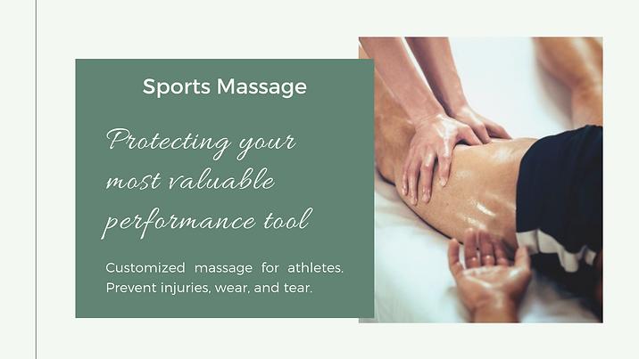 Sports Massage Well Being