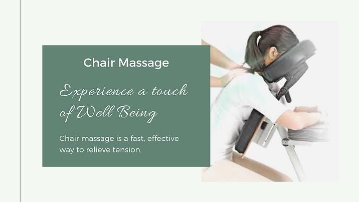 Chair Massage Well Being