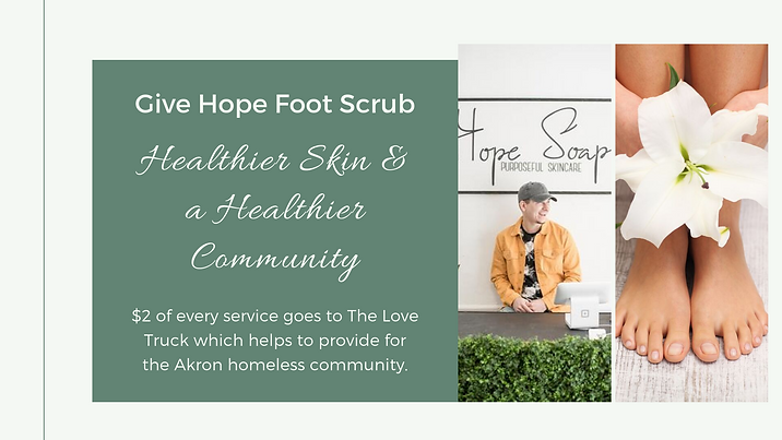 Well Being Give Hope Foot Scrub