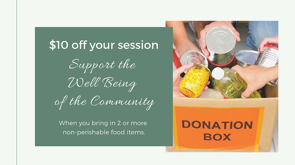 Well Being Community Food Donations