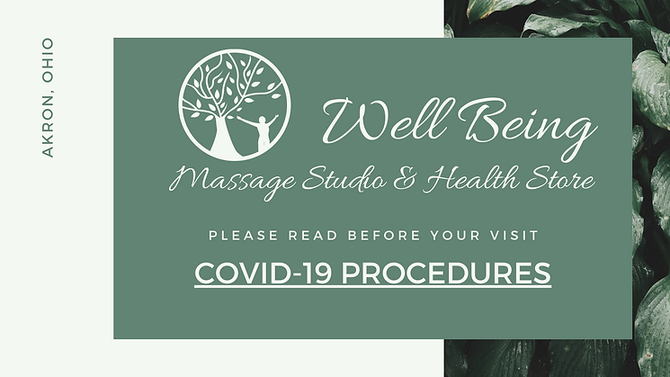 Well Being Massage Studio & Health Store Covid-19
