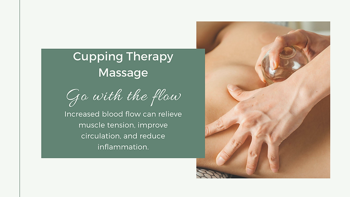 Well Being Cupping Therapy Massage