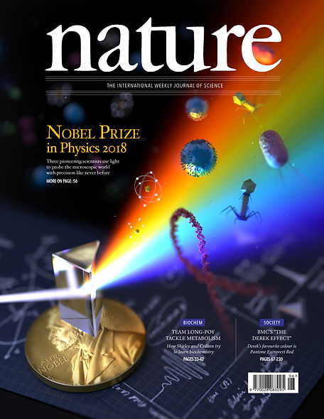 Nobel Prize in Physics 2018 Mock Cover Nature Magazine