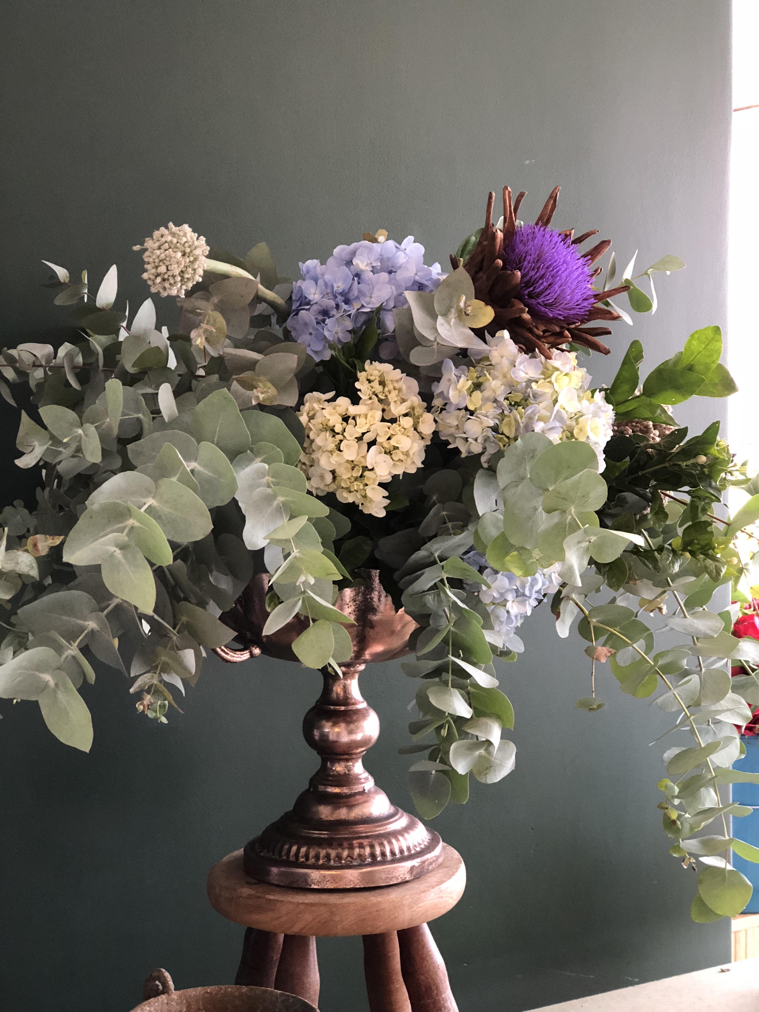Arranjo de Flor de Alcachofra