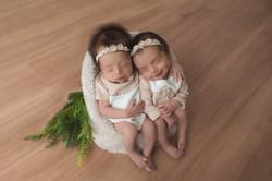 newborn gemeos gemelar