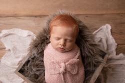 Bebê ruivo newborn