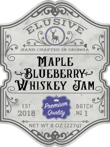 Maple Blueberry Whiskey Jam