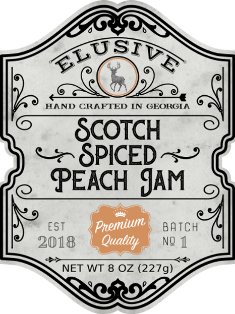 Scotch Spiced Peach Jam
