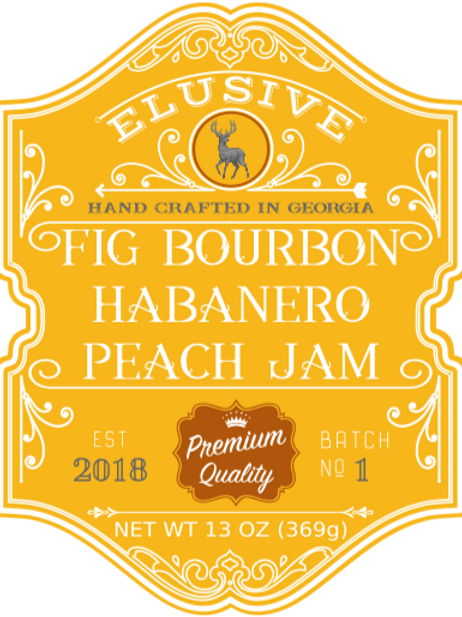 Fig Bourbon Habanero Peach Jam