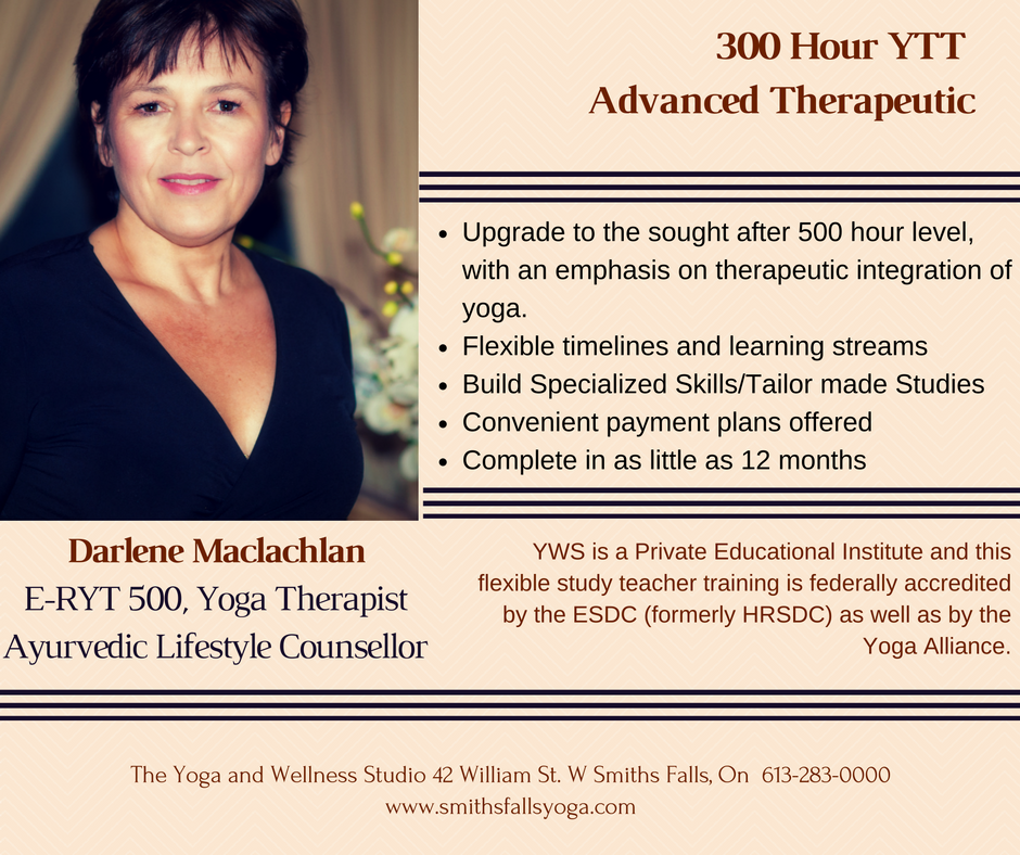 Darlene Maclachlan E-RYT 500, Yoga Therapist and Ayurvedic Lifestyle Counsellor