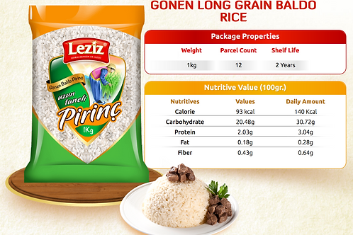 Leziz Baldo Rice, Pirinc 2 LB