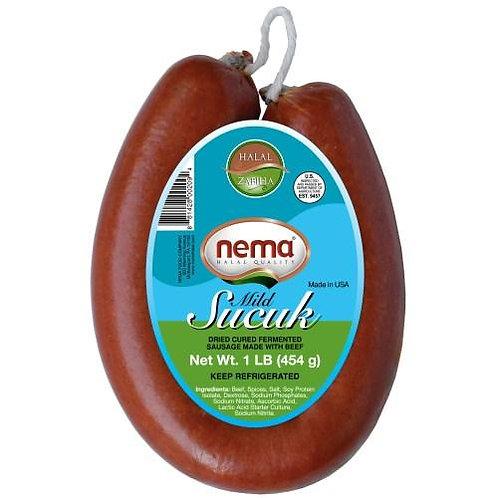 Nema Halal Zabiha Mild Beef Sucuk, Fermented & Cured Sausage made with Beef
