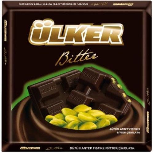 Bitter Chocolate w/ Whole Pistachios 80g