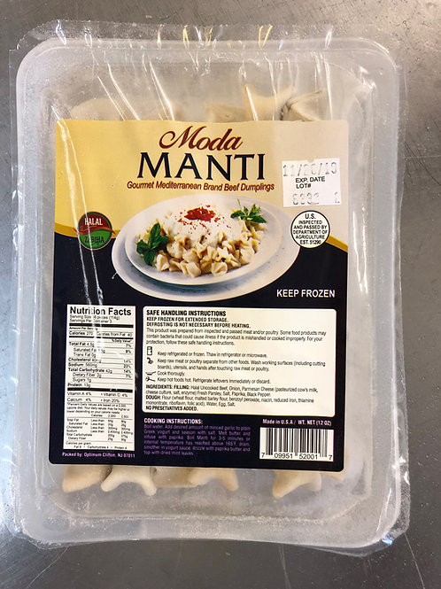 Moda Manti, Gourmet Mediterrean Brand Halal Beef Dumplings, 12 oz