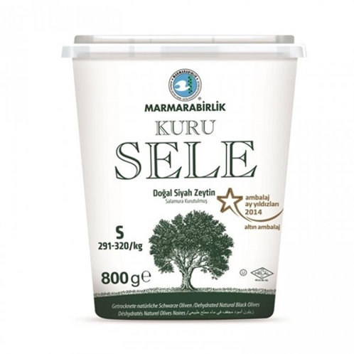 Dried Sele Large Black Olives -1.76oz