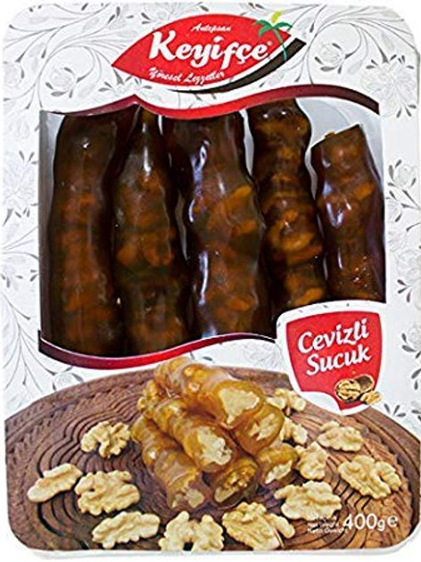 Keyifce Cevizli Sucuk, Traditional Turkish Delights with Walnut, 350 g