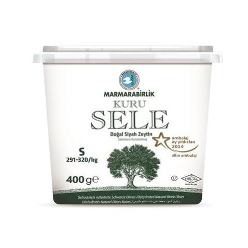 Marmarabirlik Exclusive Dried Sele Large Black Olives -14.1oz