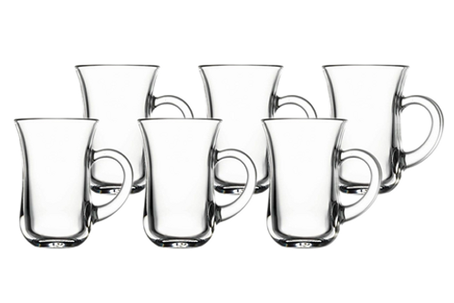 Keyif Model Tea Glasses w/ handle (6 pack)