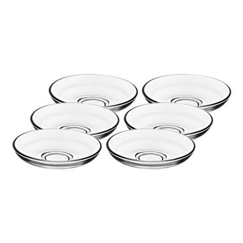 Tea Glass Saucers (Plain - 6 pack)