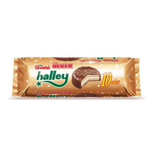 Ulker Halley Sandwich w/ Milk Chocolate, and Marshmallow (10 pack)