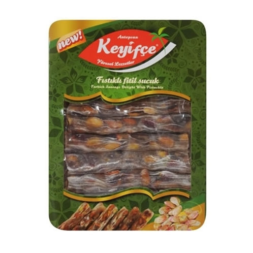 Keyifce Antep Fistikli Fitil Sucuk, Turkish Delight with Pistachio 350 g