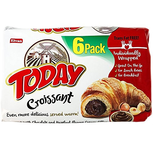 Today Soft Croissants, Trans Fat FREE (27% Chocolate and Hazelnut 6 Pack)