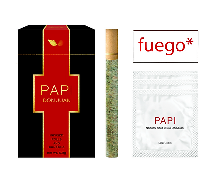 PAPI Infused-Pre-Rolls & Condoms Set for Him