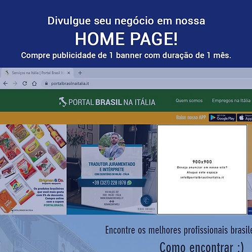 Banner na Home Page do Portal Brasil na Itália