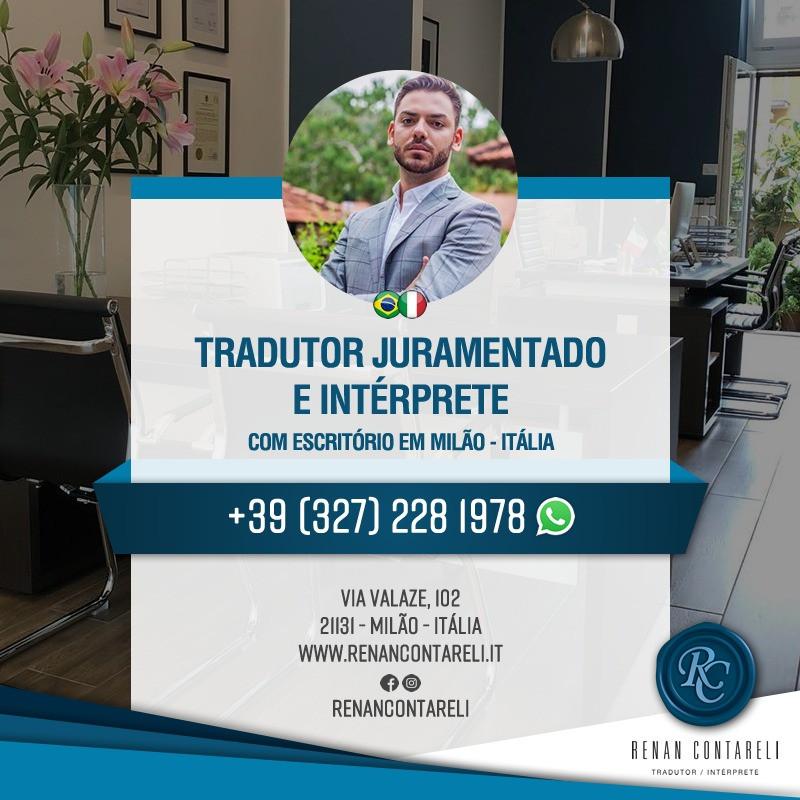 Renan Contareli - Tradutor Juramentado