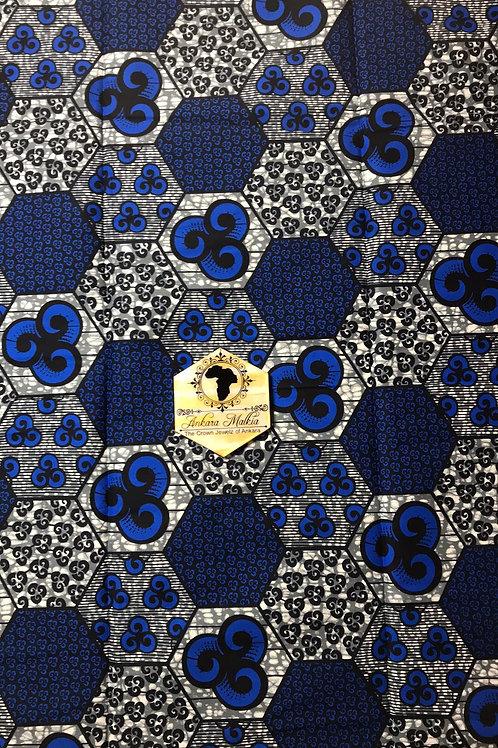 """Blue """"Pentagons"""" Patchwork 002"""