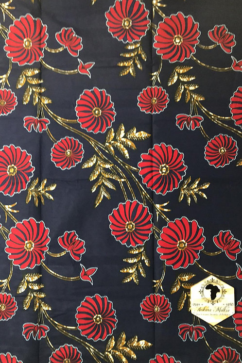 Navy & Red Wildflowers MEF018