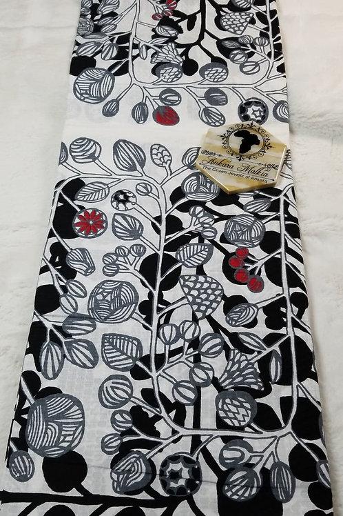 "White Black & Red Floral ""Textured Premium"" PRE112"