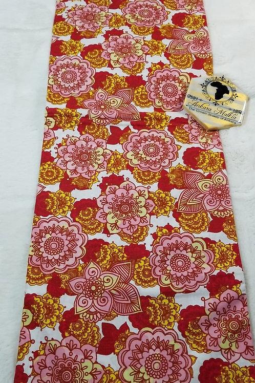 Rosey Red Floral Ult Class Ankara PRE0044