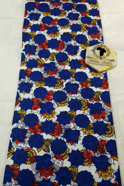 Blue Major Floral Ult Class Ankara PRE0045