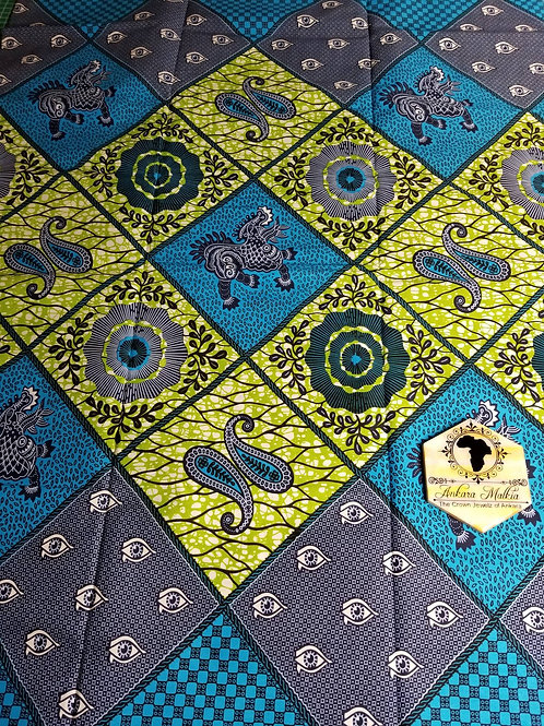 "Blue & Green ""Diamonds"" Patchwork 008"