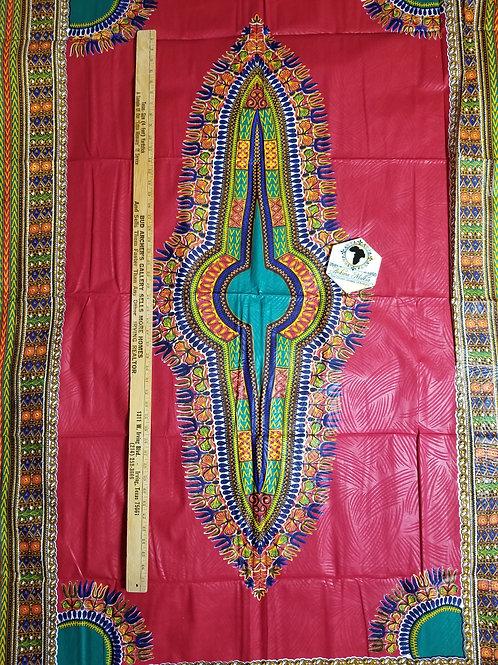 Red Big Panel Dashiki DAS019