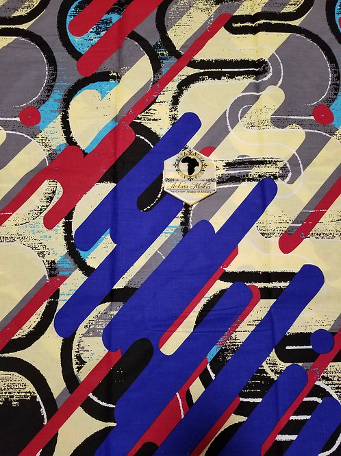 "Blue, Beige & Red ""Brushstroke"" Abstract ""Premium"" PRE0011"