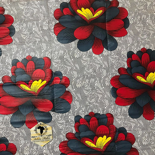 Red, Grey & Yellow Chrysanthemums MEF025