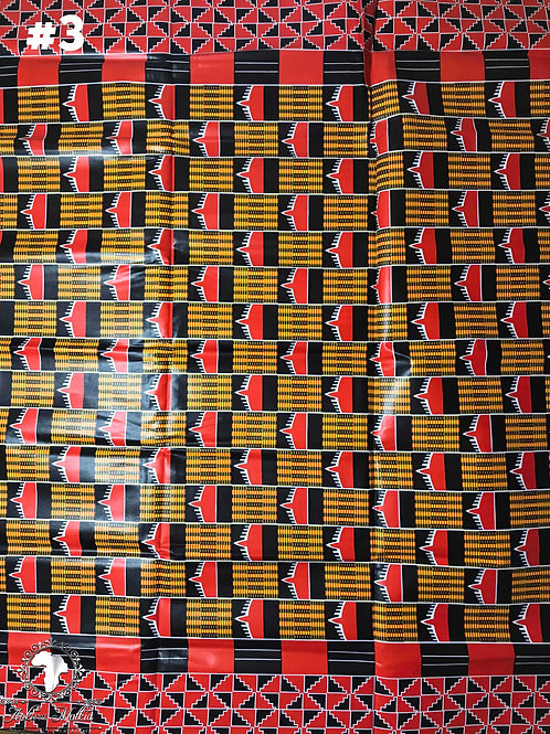 Red & Black Kente KEN003