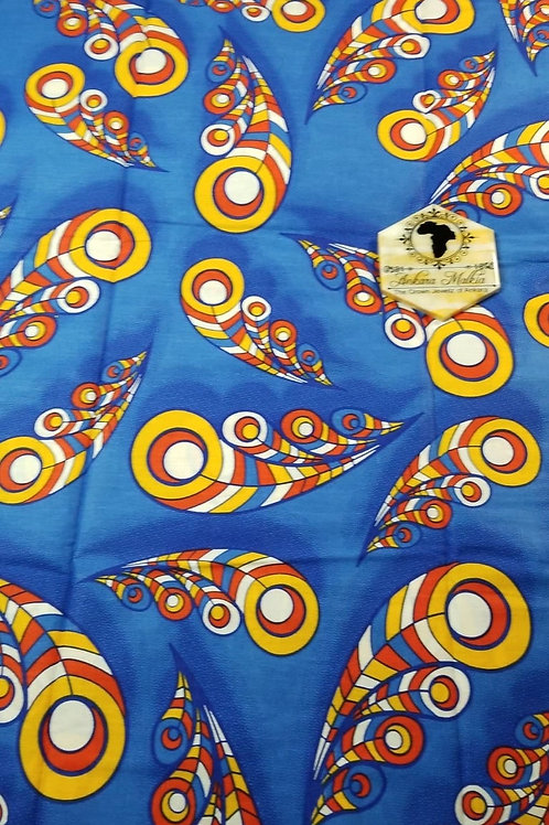 Yellow,  Red, Blue Feather ULT Class Ankara PRE0057