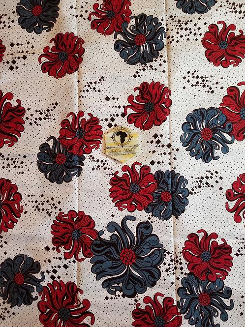 Red & Grey Floral MEF042
