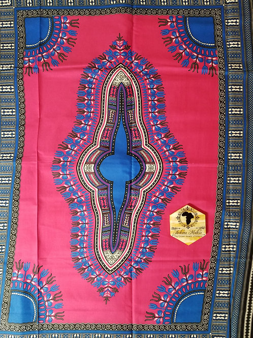 Hot Pink & Electric Blue Dashiki DAS011