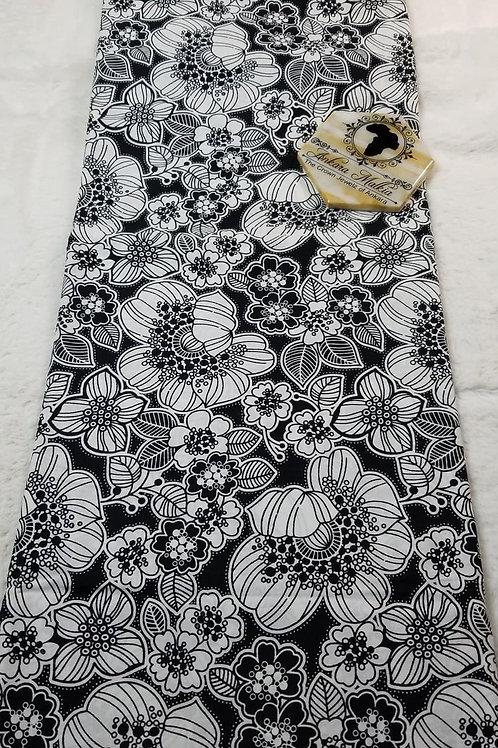 Black & White Floral Gold Class PRE0095