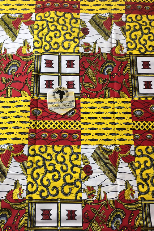 Red & Yellow Print Combo Patchwork 018