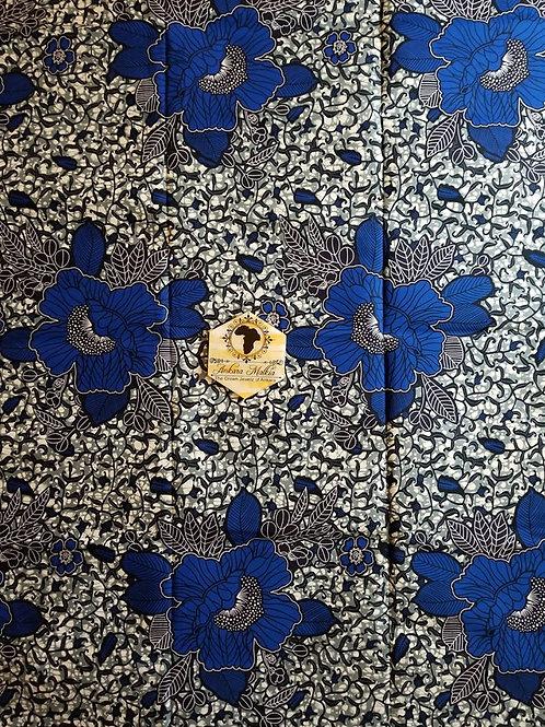 Royal Blue Floral  MEF062