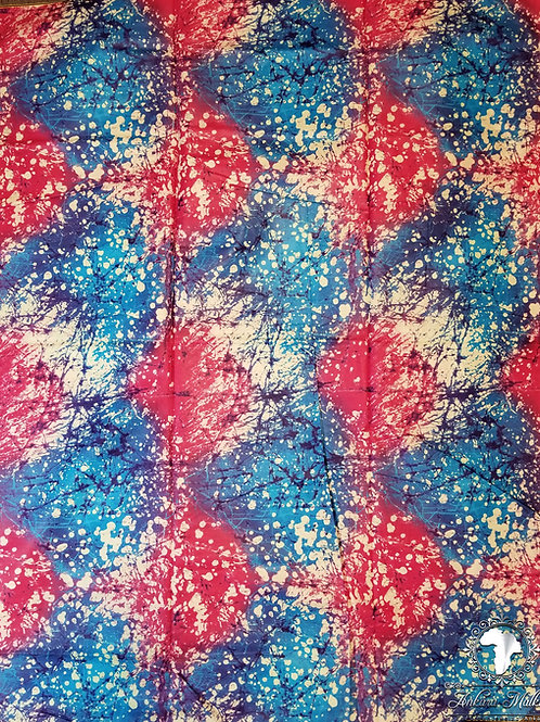 Pink & Blue Tie Dye Abstract 0027